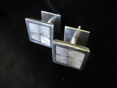 2 Mother of pearl square curtain tassel hooks NOT HOLDBACKS but small wall hook