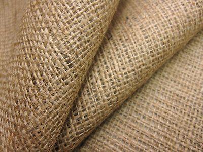 Natural Hessian Jute Sack Fabric Sold Per Metre 40w