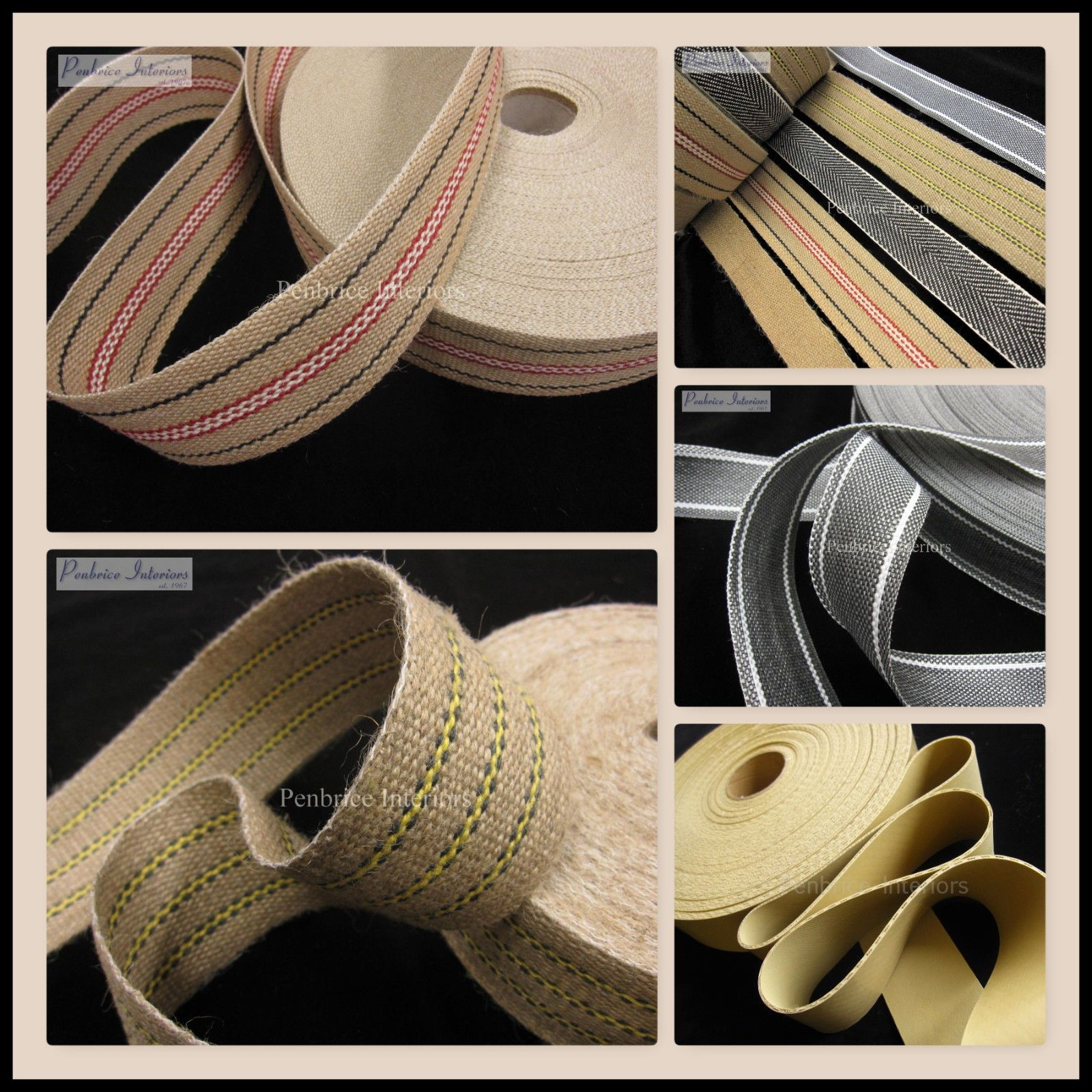 Upholstery chair webbing Traditional jute woven craft sewing tapes