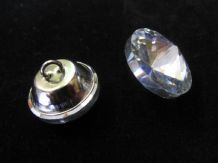 24 clear glass crystal buttons Upholstery sewing trim trimming 25mm diameter