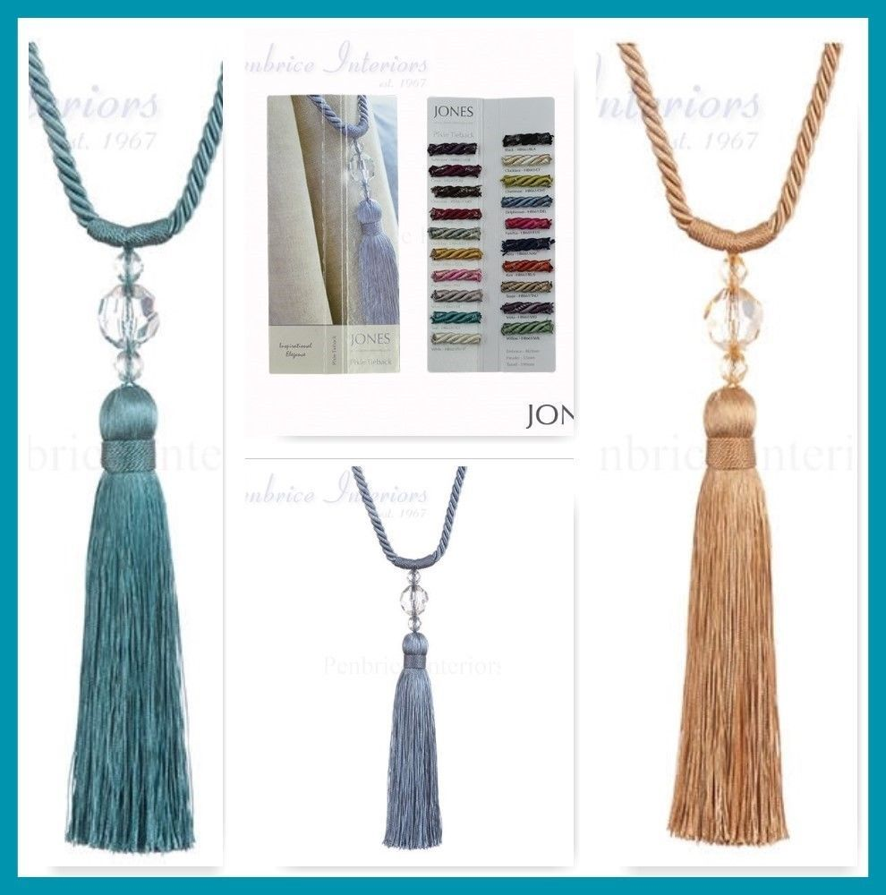 2 Pixie 20cm Tassel Curtain Tiebacks Rope And Bead