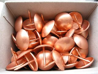 100 COPPER on steel UPHOLSTERY NAILS DIY FURNITURE WOOD TACKS STUDS PINS