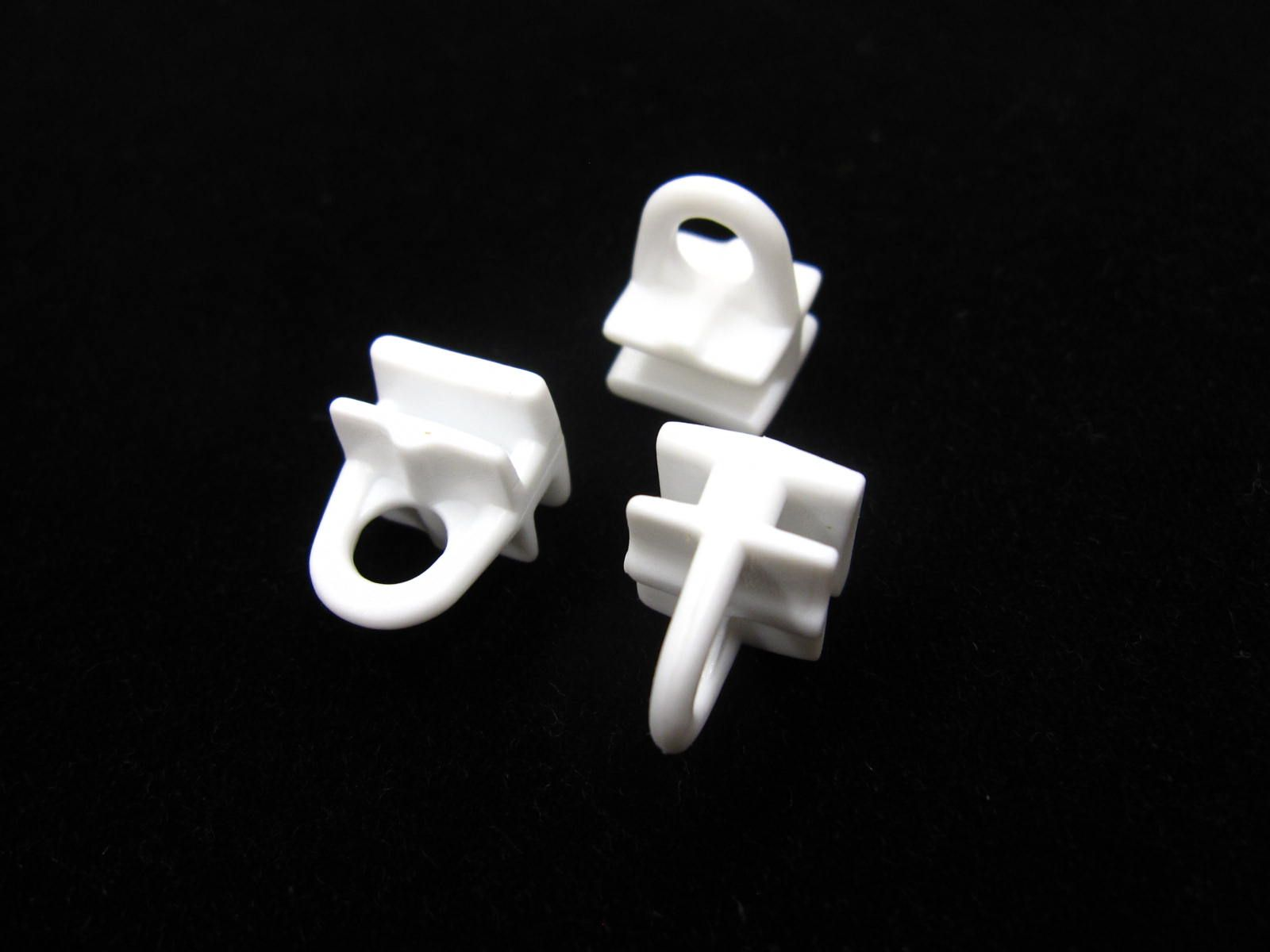 30 Ceiling Rail Curtain Track Gliders Pole Runners For Tape Hooks