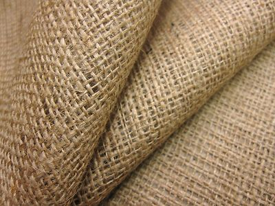 50 Mt Roll Of Natural Hessian Jute Sack Fabric 40w