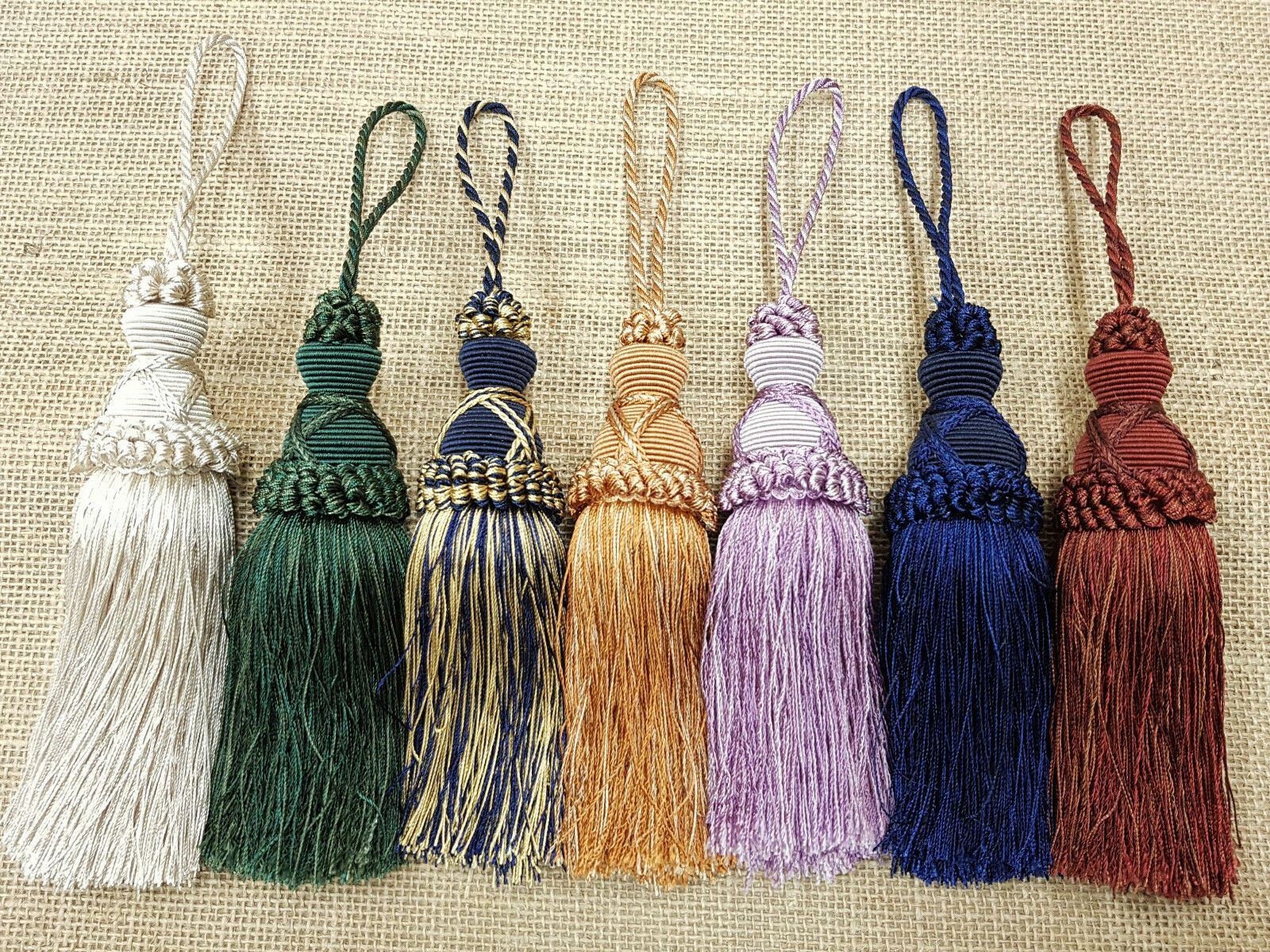Decorative ribbon and bead curtain trim Luxury key tassel Door trimming 28cm