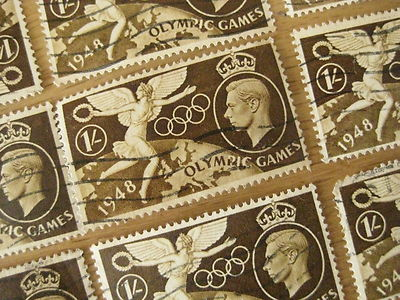 One London 1948 Olympics George Vi Shilling 1 Stamp